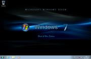 Windows 7 Ultimate SP1 Black&Blue (x86/x64) Elgujakviso Edition